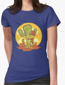 Cactus Hugger Womens Fitted T-Shirt