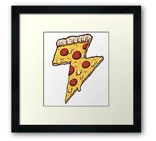 Thunder Cheesy Pizza Framed Print
