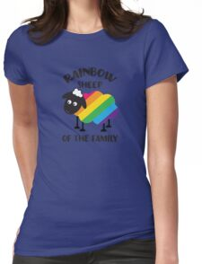 Rainbow Sheep Of The Family LGBT Pride Womens Fitted T-Shirt
