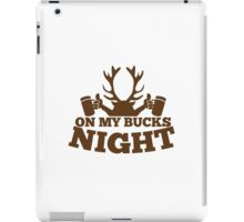 On my BUCKS night (STAG party) iPad Case/Skin