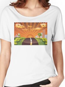 Green Field and City 2 Women's Relaxed Fit T-Shirt