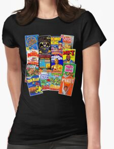 80s Totally Radical Breakfast Cereal Spectacular!!! Womens Fitted T-Shirt