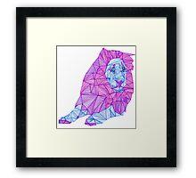 Purple Lined Lion Framed Print