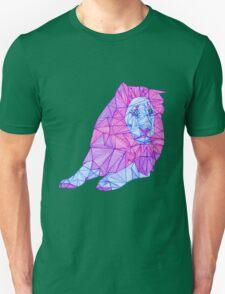 Purple Lined Lion Unisex T-Shirt