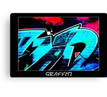 Graffiti 14 Labeled Canvas Print