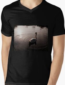 A beautiful Swan gliding through the water Mens V-Neck T-Shirt