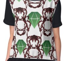 Emeralds & Demons [WHITE] Women's Chiffon Top