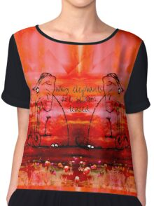 Why Elephants are Never Teased Chiffon Top