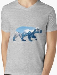 bear in the mountains  Mens V-Neck T-Shirt