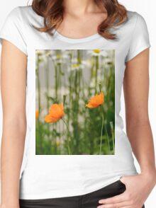 Field poppy  Women's Fitted Scoop T-Shirt