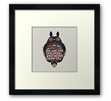 totoro we are the  children Framed Print
