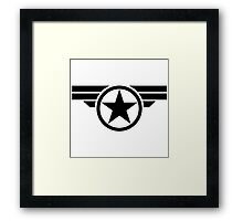 Wings Captain America Framed Print