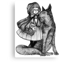 Little Red Riding Hood and the Wolf Canvas Print