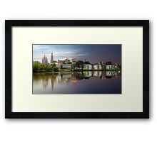 Day to night at Novodevichy convent Framed Print