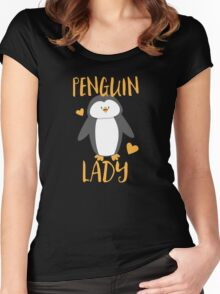 Penguin Lady Women's Fitted Scoop T-Shirt