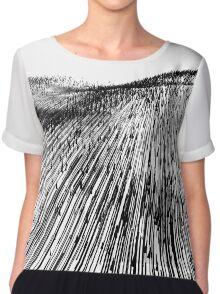 Abstract Field (black) Chiffon Top