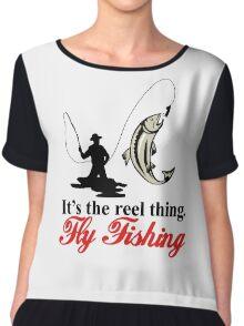 Fly Fishing Chiffon Top