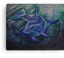 Dolphin - Spirit Animal Art Canvas Print