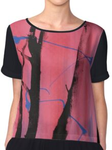 Screen print. Chiffon Top