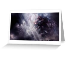ZED in the shadows... Greeting Card