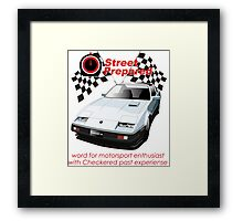 300ZX Japanese sports car 1990's Framed Print
