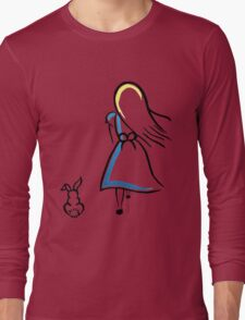 Alice and the White Rabbit Long Sleeve T-Shirt