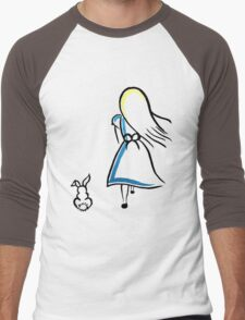 Alice and the White Rabbit Men's Baseball ¾ T-Shirt