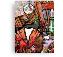 Angst with hallucinations, post punk style Canvas Print