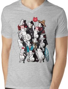 Monokuma portrait of wisdom Mens V-Neck T-Shirt
