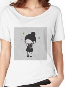 EDR 086 Play The Music Women's Relaxed Fit T-Shirt
