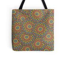 colorful doodle sunflower seamless pattern Tote Bag