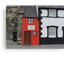 Smallest House in Great Britain Canvas Print