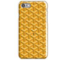 goyard yellow logo iPhone Case/Skin