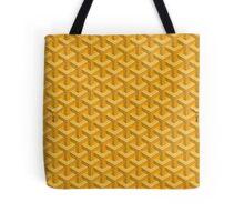 goyard yellow logo Tote Bag