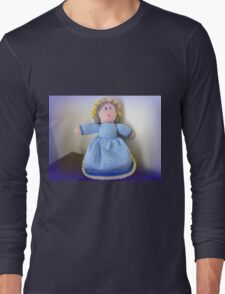 Hand Made knitted Doll  Long Sleeve T-Shirt