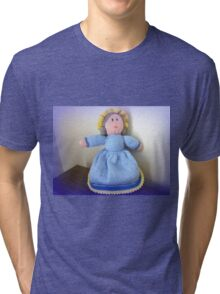 Hand Made knitted Doll  Tri-blend T-Shirt