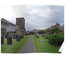 A Walk by St Mary's Church, Conwy Poster