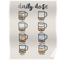 Watercolor Coffee Chart Poster