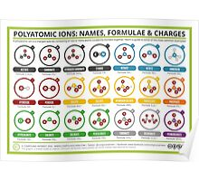 A Guide to Common Polyatomic Ions – Colour Version Poster