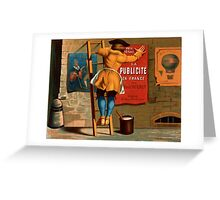 French Vintage Poster 1880 Restored Greeting Card