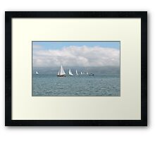 Waves, Lines & Triangles Framed Print