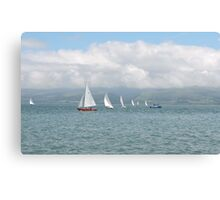 Waves, Lines & Triangles Canvas Print