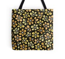 seamless yellow flower doodle pattern Tote Bag