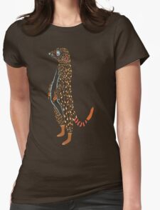 Abstract Meerkat Womens Fitted T-Shirt