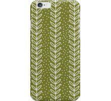 simple green leaf seamless pattern iPhone Case/Skin