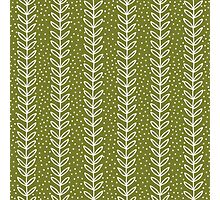 simple green leaf seamless pattern Photographic Print