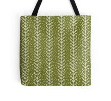 simple green leaf seamless pattern Tote Bag
