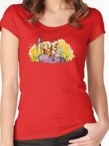 Calvin & Hobbes : Imagination Rules Women's Fitted Scoop T-Shirt