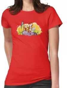 Calvin & Hobbes : Imagination Rules Womens Fitted T-Shirt