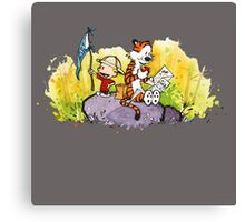 Calvin & Hobbes : Imagination Rules Canvas Print